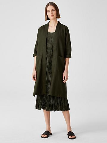 Organic Linen Belted Jacket
