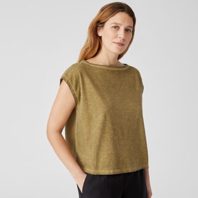 Pigment-Dyed Organic Cotton Square Top