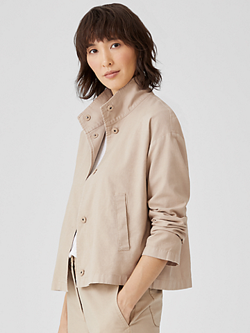Organic Cotton Hemp Stand Collar Jacket