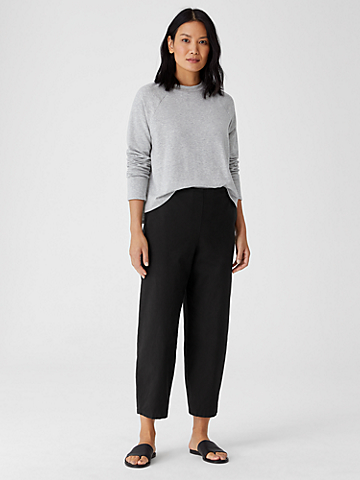 Organic Cotton Hemp Lantern Ankle Pant