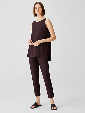 Washable Stretch Crepe High Waisted Pant