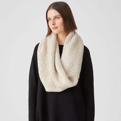 Knit Fur Infinity Scarf