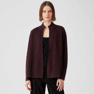 Silk & Organic Cotton Interlock Jacket