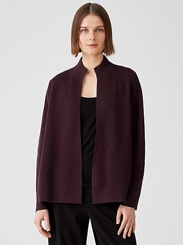 Silk & Organic Cotton Interlock Jacket