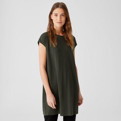 Viscose Jersey Cap-Sleeve Dress