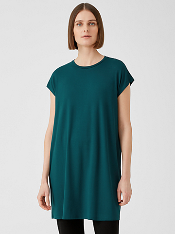 Viscose Jersey Cap-Sleeve Dress