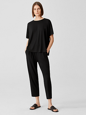 Viscose Jersey Pleated Pant