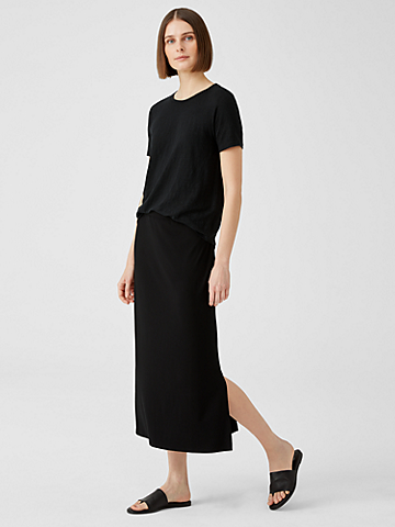 Viscose Jersey A-Line Skirt