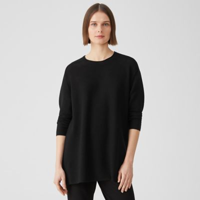 Washable Wool Stitch Top in Regenerative Wool