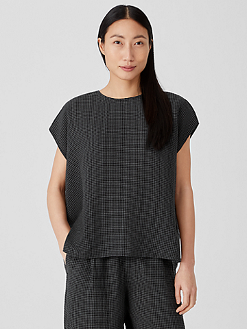 Puckered Organic Linen Square Top