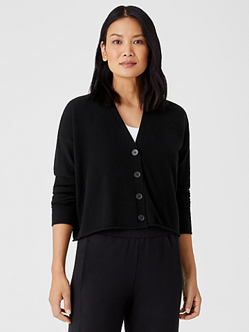 Italian Cashmere Cropped Cardigan