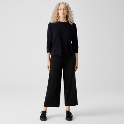 Italian Cashmere Straight Cropped Pant
