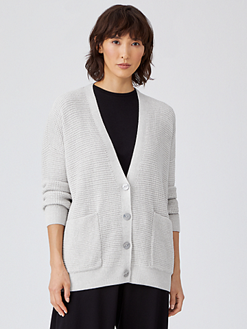 Organic Cotton Silk Boyfriend Cardigan