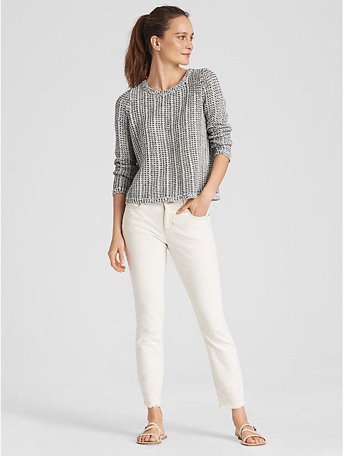 Organic Cotton Linen Knit Box-Top