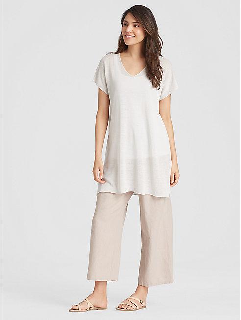 Organic Linen Crepe Knit Tunic