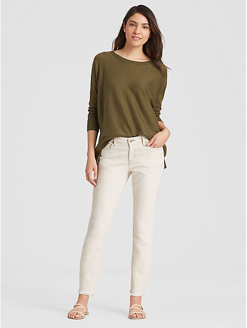 Undyed Organic Cotton Slim Ankle Jean