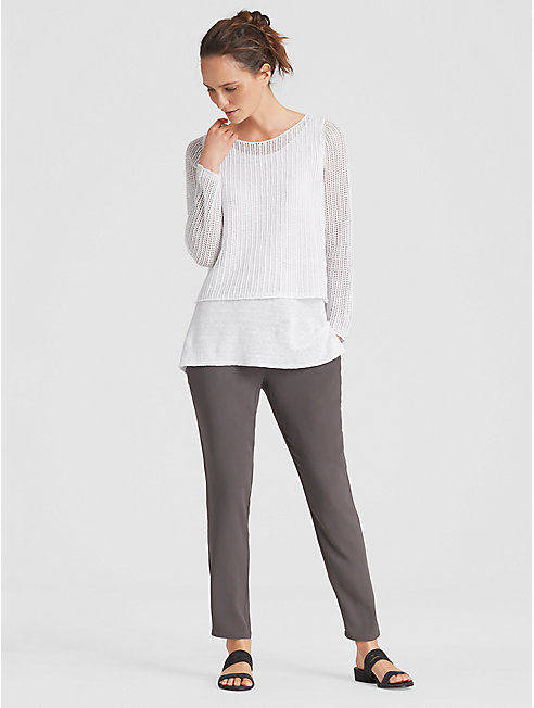 Organic Linen Knit Double-Layered Top