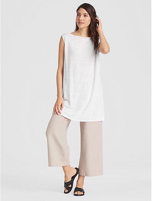 Organic Linen Jersey Straight Tunic