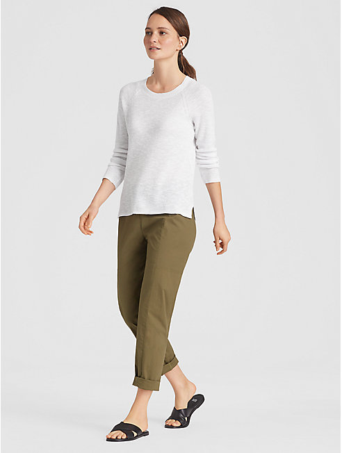 Organic Linen Cotton Slub Rib Top