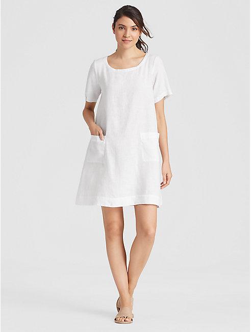 Organic Handkerchief Linen Shift Dress