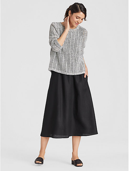 Organic Handkerchief Linen Gathered Skirt