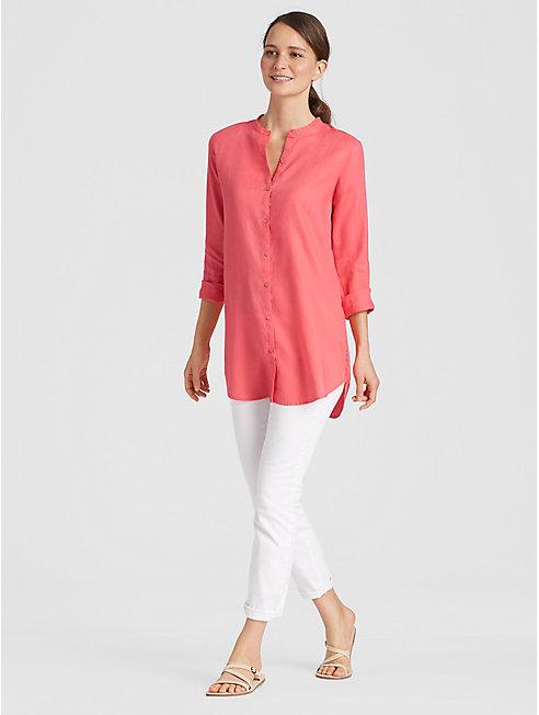 Organic Handkerchief Linen A-Line Shirt