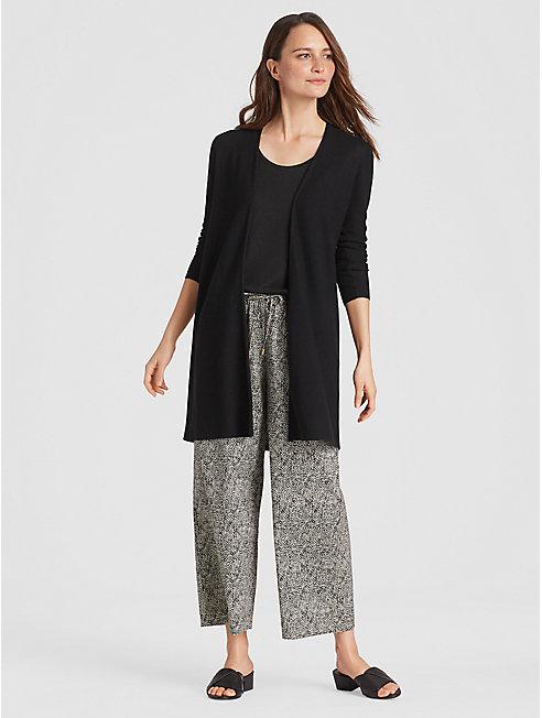 Tencel Organic Cotton Silk Long Cardigan