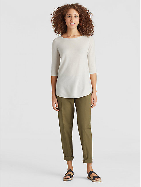 Tencel Organic Cotton Silk Shirttail Tunic