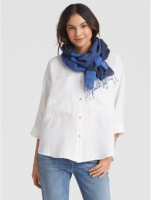 Handwoven Organic Cotton Stripe Scarf