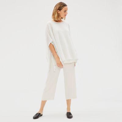 Organic Linen Crepe Poncho
