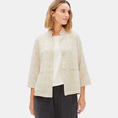 Organic Cotton Linen Jacquard Jacket