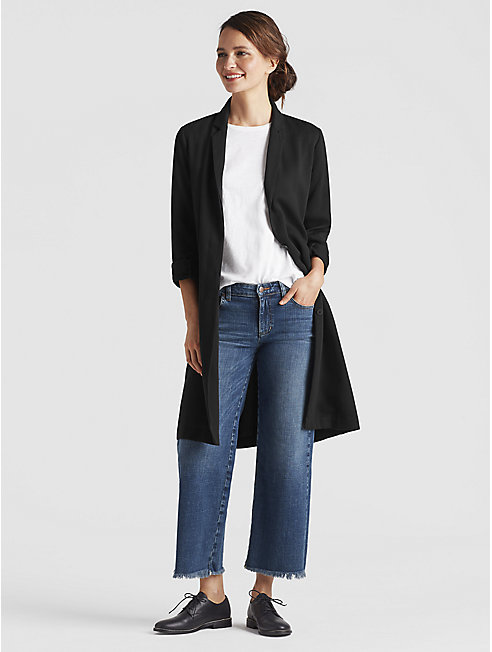 Corded Tencel Long Jacket