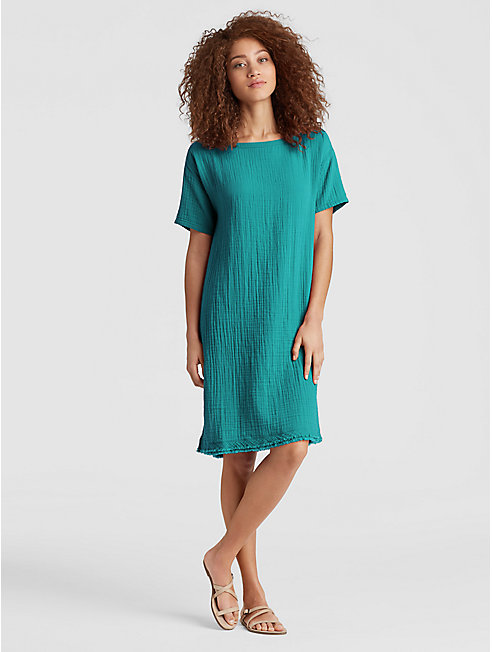 Organic Cotton Gauze Boxy Dress