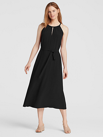 Tencel Viscose Crepe Halter Dress