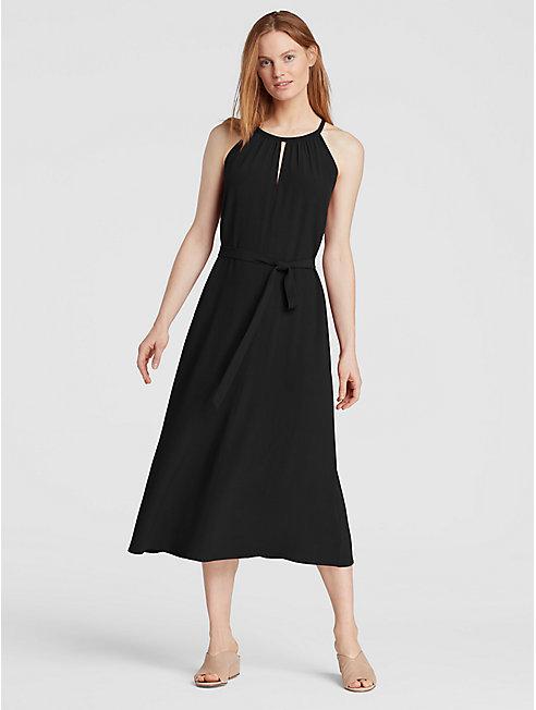 Tencel Viscose Crepe Halter Dress