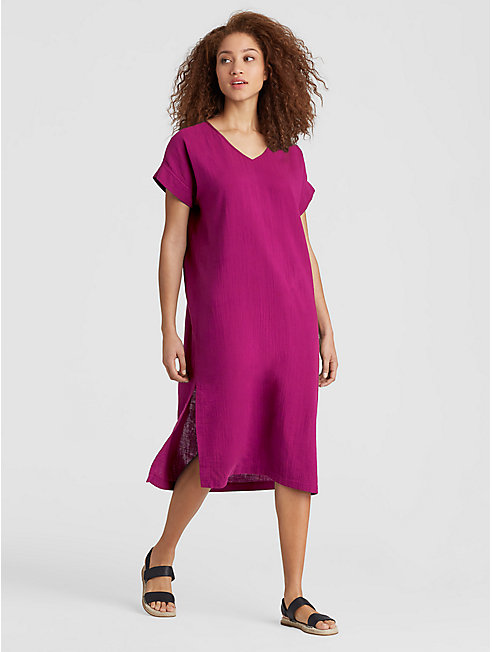 Organic Cotton Gauze Shift Dress