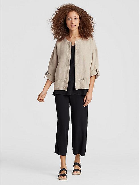 Heavy Organic Linen Boxy Jacket