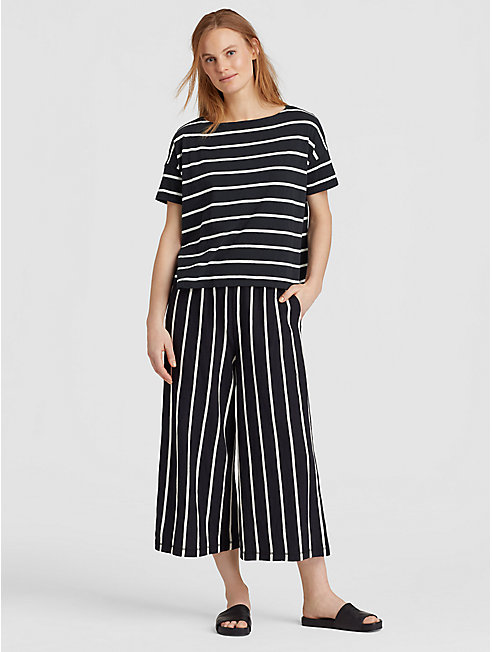 Organic Cotton Slub Stripe Box-Top