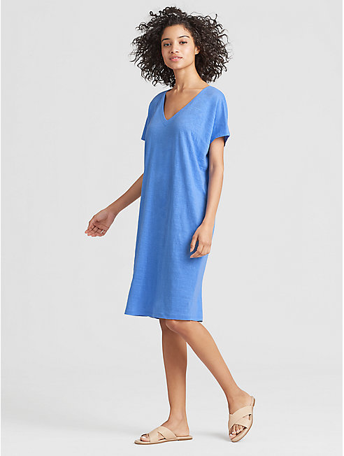 Exclusive Organic Linen Jersey Easy Dress