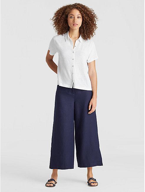 Organic Linen Jersey A-Line Shirt