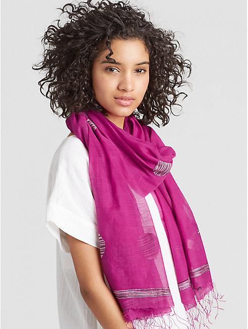 Handwoven Organic Cotton Silk Jamdani Scarf