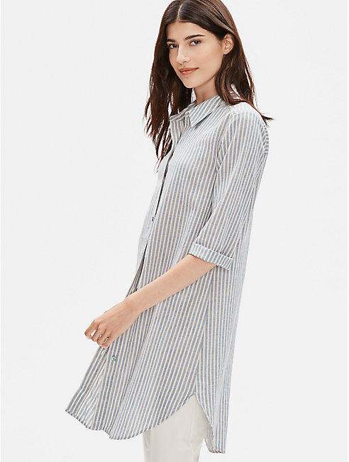 Hemp Organic Cotton Stripe Shirt Dress