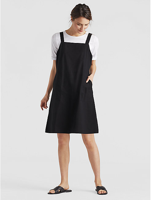 Organic Cotton Poplin Jumper Dress