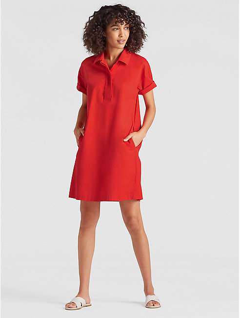 Organic Cotton Poplin Shirt Dress