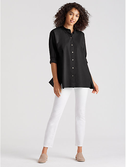 Organic Cotton Poplin A-Line Shirt