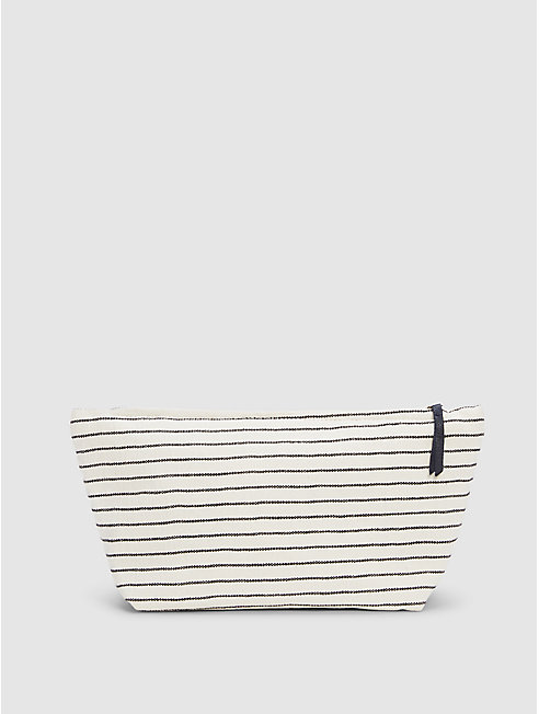 Cotton Canvas Stripe Pouch