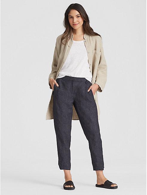Organic Linen Delave Ankle Trouser