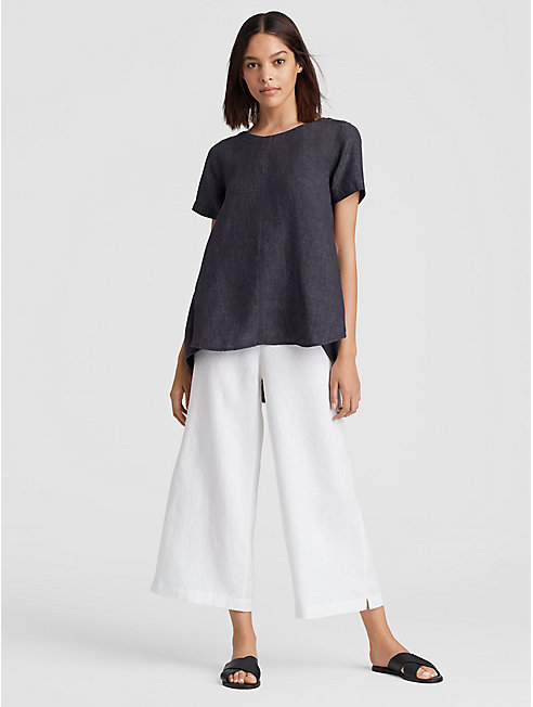 Organic Linen Delave High-Low Top