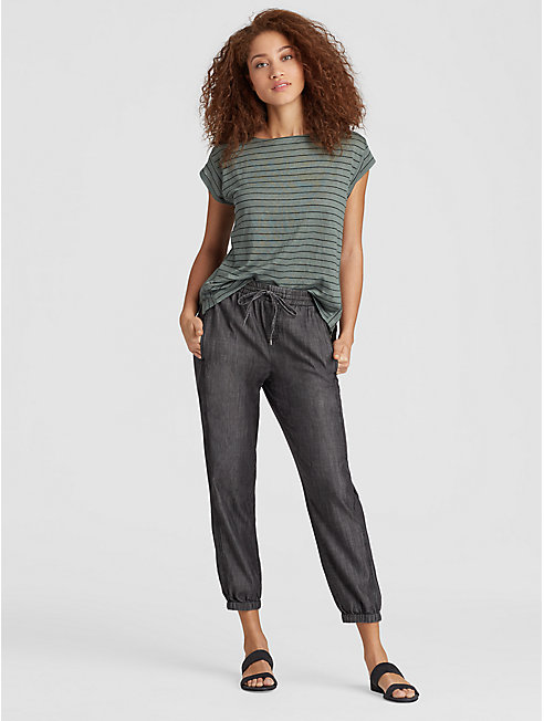 Tencel Organic Cotton Denim Slouchy Pant