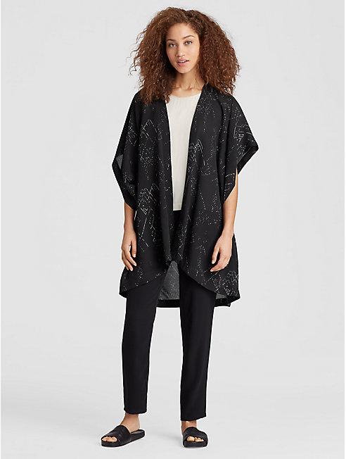 Marrakesh Printed Silk Tencel Kimono Jacket